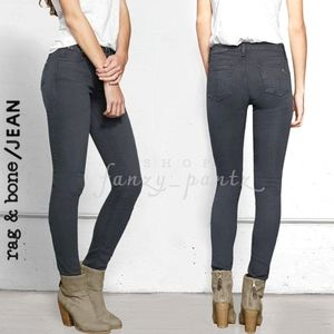 rag & bone skinny jean distressed charcoal 25 gray
